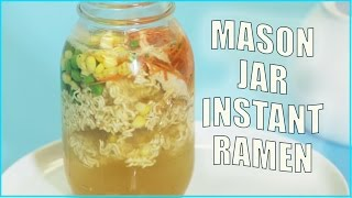 Dorm Room EATS: Mason Jar Instant Ramen