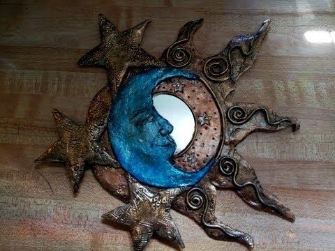DIY -Sun & Moon Mirror- Polymer Clay