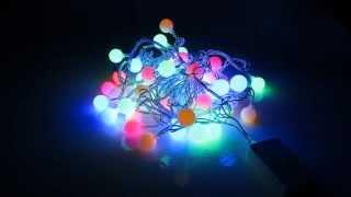 Светодиодная гирлянда Ball multi мультиколор(Светодиодная гирлянда LED Ball IP20 представляет собой нить из 30 светодиодов, объединенных общим проводом. Рассе..., 2014-12-08T22:30:02.000Z)