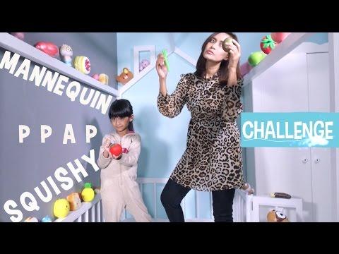 MANNEQUINN PPAP SQUISHY CHALLENGE - QUINN and IBU
