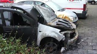 Video: 48 autobranden in Maastricht, politie staat voor raadsel (20 nov 2015)