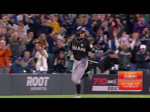 MIA@SEA: Ichiro gets roaring ovation after solo homer