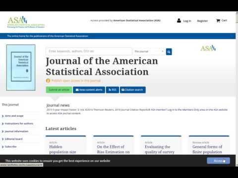 ASA Journals: Accessing Online Journal Articles