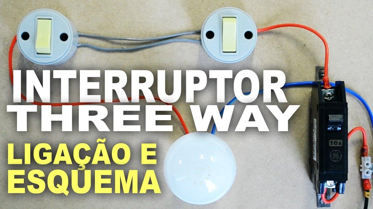 Conhecido Como ligar interruptor Paralelo - Three Way - YouTube TU65