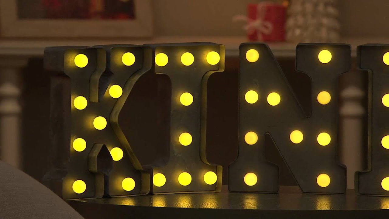 E.D. On Air Prelit Marquee Words w/ Rustic Metal Finish by Ellen DeGeneres  with Carolyn Gracie