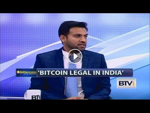 Co-founder Sandeep Goenka discussing the legality of bitcoin on BTVI​
