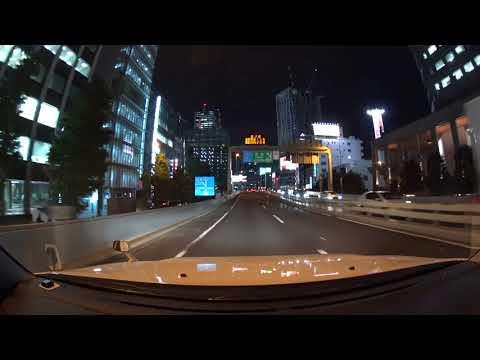 Tokyo Expressway night drive 4K 初台南 辰巳PA