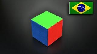 Origami: Cubo Modular Simples - Instruções em Português BR