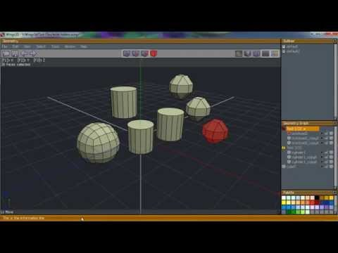 Wings3d: Select/Hide/Lock/Wire operations in the Geometry window