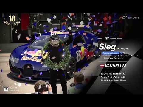 GT Sport Gran Turismo Sport Win / Sieg Daily Race Monza GP Gr.4 T300RS
