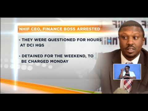 NHIF CEO,finance boss arrested