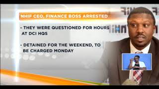 NHIF CEO,finance boss arrested