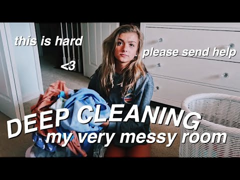 deep cleaning my room for the first time in months