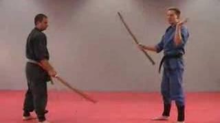 Rick Tew Wooden Sword Bokken Ninjitsu weapon Drills Martial Arts and Ninja Training Camp California