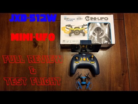 "JXD-512W Micro FPV ""Bebop"" Clone, review and test flight"