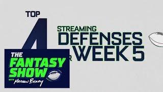 Daniel Dopp's top 4 streaming defenses for Week 5   The Fantasy Show   ESPN