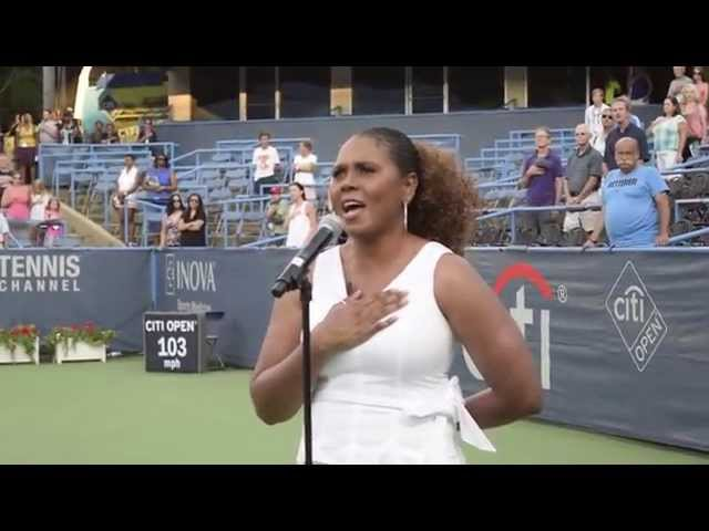 Coletta Renee Sings National Anthem at 2015 CitiCorp Tennis Tournament in Washington DC