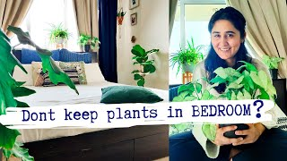 Don't keep indoor plants in bedroom? Buy plants that give out oxygen at night?