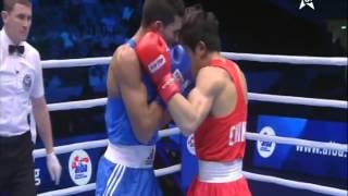 mohammed rabii  vs WEI LIU  1/2 final championa du monde de boxe HD