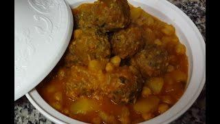Tagine Meatballs Sardines /tajine Boulette  De Sardinesطاجين كريات السردين