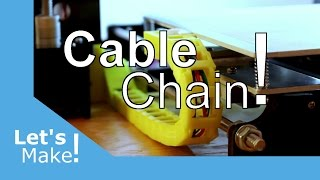 anet a8 heated bed cable chain upgrade