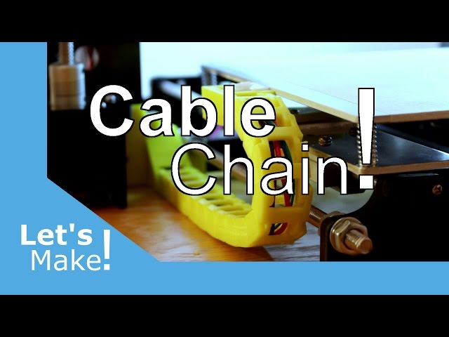 Anet A8 - Heated Bed Cable Chain Upgrade
