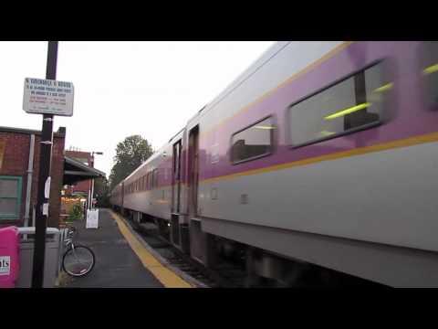 MBTA Trains in Needham MA.