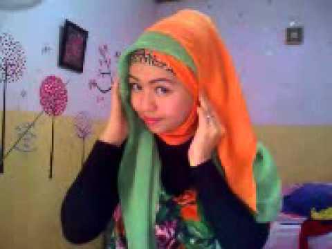 Tutorial Jilbab Paris Dua Warna By Riska 4 Youtube