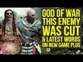 God of War News - This Huge Enemy Was Cut, Latest Words On New Game Plus (God of War 4 New Game Plus