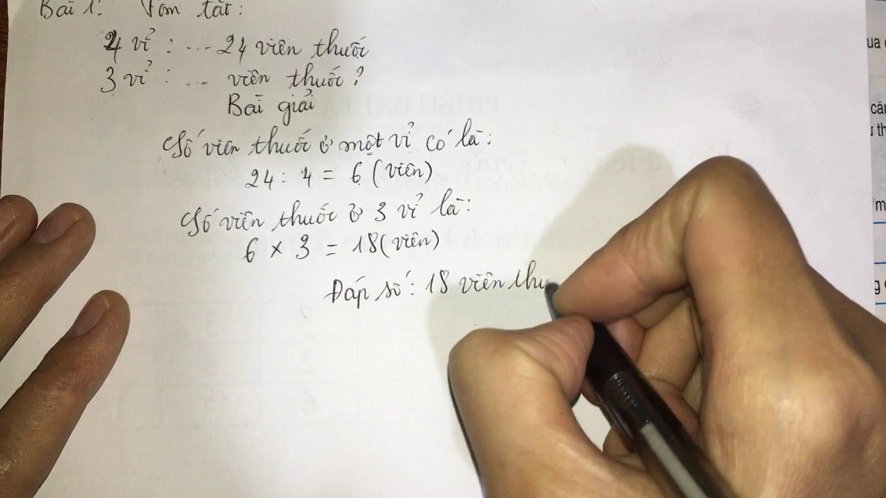 Bài toán liên quan đến rút về đơn vị (trang 128)- toán lớp 3