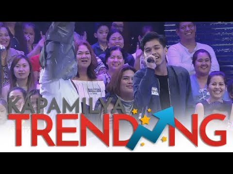 """Metro Manila Contender's son sings a few line of """"Versace on the Floor"""""""