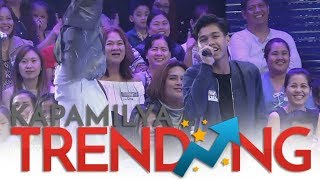 "Metro Manila Contender's son sings a few lines of ""Versace on the Floor"""
