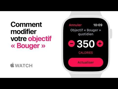 AppleWatch Series4 - Comment modifier votre objectif Bouger - Apple