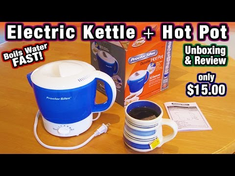 Electric Kettle Hot Pot Proctor Silex Boil Water for Tea & Coffee Bodum Chef's Choice