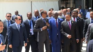 Leaders arrive for AU summit as Kagame steps down