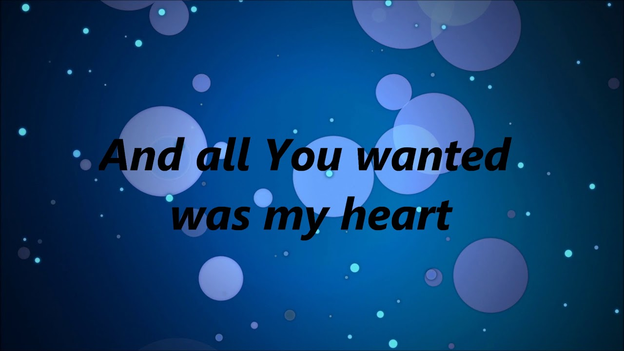 Download Casting Crowns - All You've Ever Wanted (Lyrics)