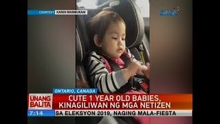 Cute 1 year old babies, kinagiliwan ng mga netizens