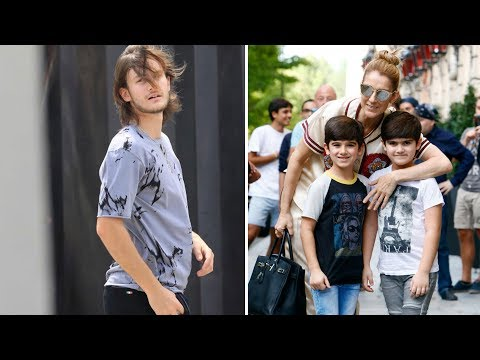 Celine Dion's Sons Rene Charles, Eddy Angelil & Nelson Angelil 2017