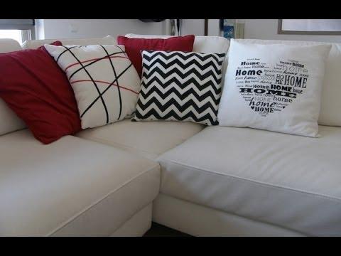 Cojines decorados con pintura textil youtube - Cojines para sillones de terraza ...