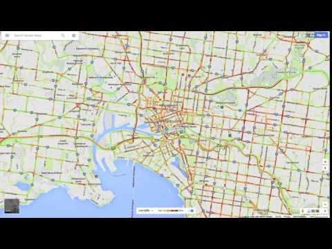 Melbourne Traffic Lapse | A time lapse using Google's live traffic data