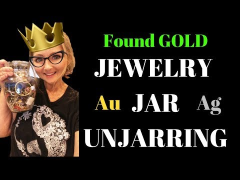 I FOUND GOLD!!! Jewelry Jar Unjarring