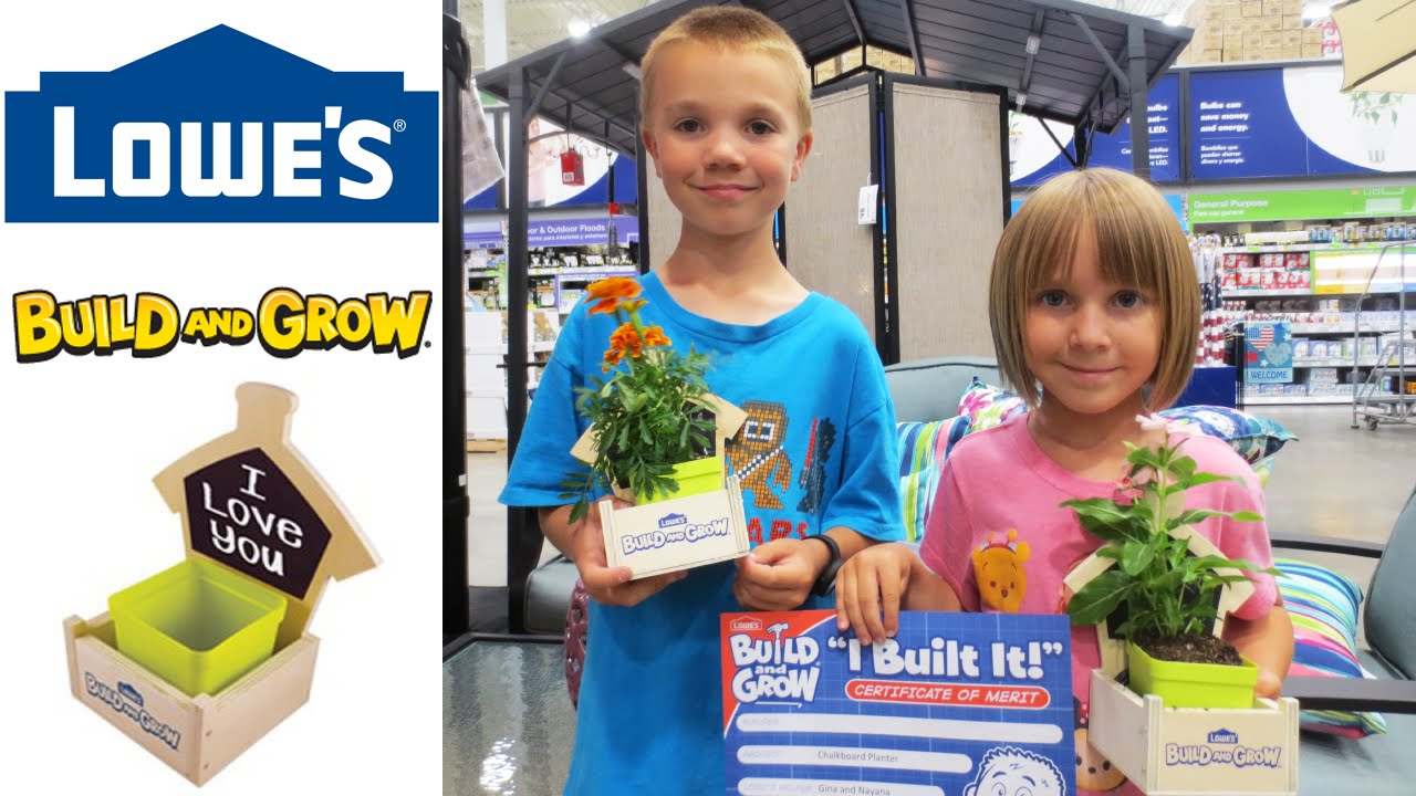 Lowes Build And Grow 2020 Schedule Lowe's Build & Grow   Chalkboard Planter   5/5/2016   YouTube