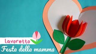 Per la festa della mamma realizziamo un lavoretto a forma di cuore che racchiude tulipano 3d! pochi materiali ed il gioco è fatto!-ehi, e se non sei ancor...