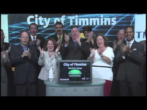 City Of Timmins Opens Toronto Stock Exchange, October 1, 2012.