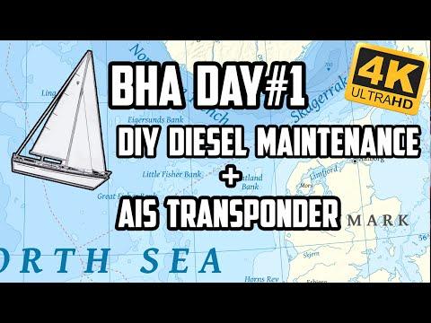 Sail Life - diesel engine maintenance & AIS transponder installation, BHA #1