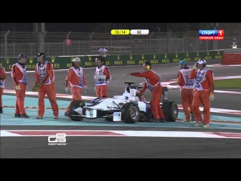 GP3 2013. Abu Dhabi Grand Prix. Girls Samin Gomez and Carmen Jorda in Action