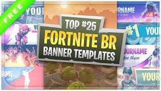 Top 25 Fortnite Battle Royale Banner Templates + Free Download