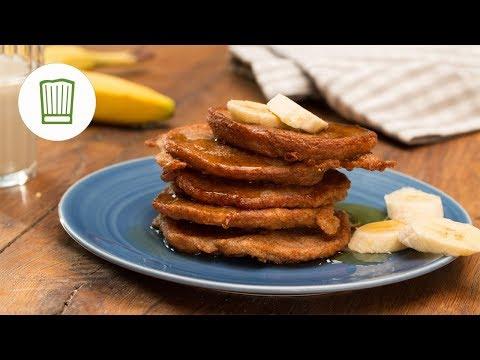 Fluffige vegane Pancakes mit Banane | Chefkoch