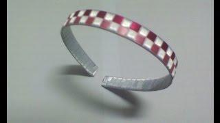 Diadema, Cintillo trenzado o forrado con 3 cintas (listón) paso a paso