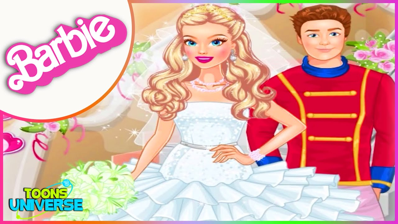 Barbie Princess Wedding Dress Up Game for Girls - YouTube